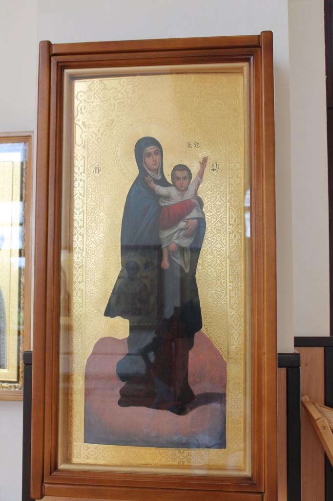 Икона после рестарации в храме Кукши Печерского в монастре.JPG